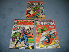 Defenders #21, 32, 42 Marvel Comics NM- to VF