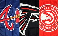 Atlanta Braves Falcons Hawks Flag 3x5 ft Sports Banner Man-Cave Garage NFL NBA