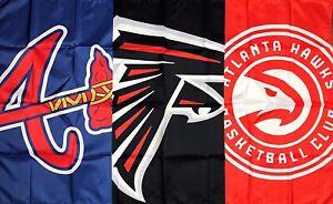Atlanta Braves Falcons Hawks Flag 3x5 ft Sports Banner Man-Cave Garage NFL NBA