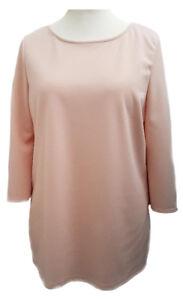 Womens Tunic Top Blouse Plus Size 16 18/20 22/24 26/28 30/32 34/36 Light Peach