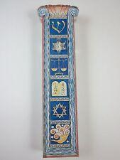"""Acrylic Mezuzah DECO WINDOW w NON Kosher Scroll 4"""""""