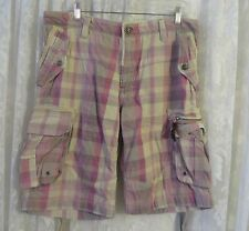 Z BRAND SHORTS CARGO Pink Purples Thick Board Walking 36/38