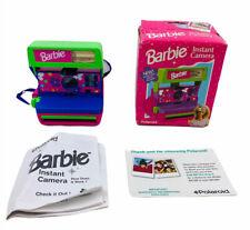 Vintage Polaroid Barbie Instant One Step 600 Camera + Orig Strap Untested CLEAN