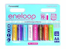 Panasonic eneloop Rechargeable AA TROPICAL COLOR Battery x8 LIMITED EDITION