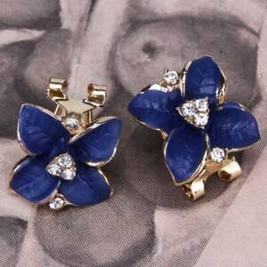 New Matte Ear Clip Wedding Trendy Personality Fashion Camellia Women Jewelry T