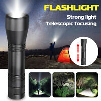 Tactical 5 Modes T6/ L2 LED Flashlight Zoomable 18650 Focus Waterproof Torch @