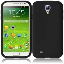 For Samsung Galaxy S4 i9500 Silicone Skin Cover Case - Black