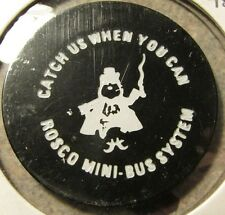 Vintage Rosco Mini-Bus Prudenville, MI Black 75c Transit Bus Token - Michigan