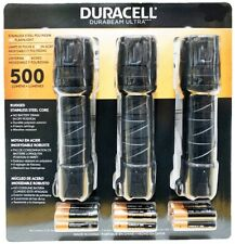 DURACELL Durabeam Ultra 3 Pack LED Flashlight 500 Lumens with Batteries