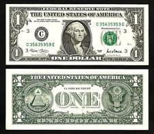 USA US 1 DOLLAR 2001 , FRN 1926-C , AU / UNC  , PHILADELPHIA
