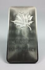 Canada 5 Troy Ounce .999 Fine Titanium Art Bar 'Maple Leaf' - UNCIRCULATED