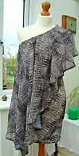 Snake Print One Shoulder Ruffle Front Bodycon Dress Various Sizes BNWT's