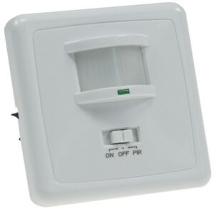 Unterputz Bewegungsmelder 3-Draht 160° LED geeignet 1-1200W Infrarot PIR UP -9m