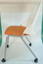 Herman Miller Sayl Side Chair 4 Leg Base With Casters Orange