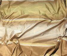 "Gold & Bronze Stripe - Silk TAFFETA Fabric fat 1/4 18""x27"" remnant"