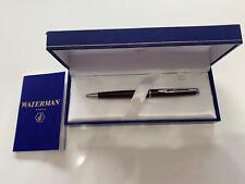Waterman Hemisphere Beautiful Metallic Burgundy And Silver Ballpoint Pen, Boxed