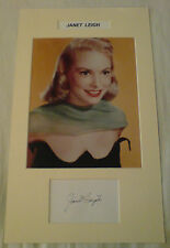 Hollywood Actress JANET LEIGH Signed Photo Mount