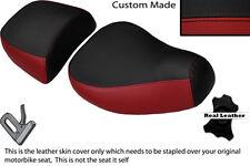 Negro Y Rojo Oscuro Custom encaja Piaggio Vespa LXV 125 150 Delantero Trasero de cubiertas de asiento