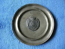 Zinnteller Teller mit Wappen aus Zinn Wappenteller ca. 200 Jahre alt
