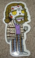 "DUDE Big Lebowski MUERTO Art Sticker Print 2 X 4"" DIA DE LOS muertos jose pulido"