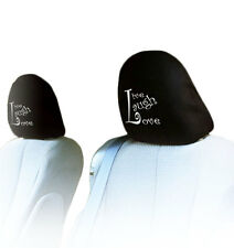 NEW DESIGN PAIR CAR TRUCK LIVE LAUGH LOVE LOGO SEAT HEADREST COVERS ACCESSORIES