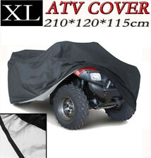 XL Black Waterproof ATV Cover For Honda Kawasaki Suzuki Yamaha Polaris Fuzion