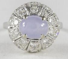 Light Blue Sapphire & Diamonds 14kt White Gold Dome Ring