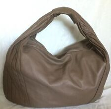 Large MANZONI Brown Leather Hobo/Shoulder Bag / Handbag