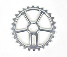 New DK Khan 28t SILVER Billet Sprocket BMX Made In USA 7075 28 Tooth Dirt Park