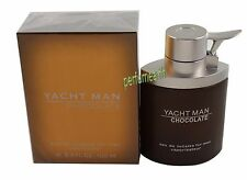 YACHT MAN CHOCOLATE 3.4/3.3 OZ EDT SPRAY FOR MEN NEW IN A BOX BY MYRURGIA