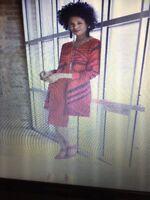SALE @t Brand New ASHRO Purple Gold Beaded Jacket Dress Evening Womens Sz M