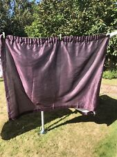 Pair Of Purple Pencil Pleat Curtains - Lined
