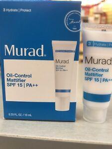 Murad Oil-Control Mattifier SPF 15 | PA ++ Travel Size .33 oz /10 ml Brand New