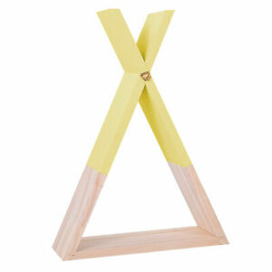 Triangle Pine Wood Wall Decor Floating Shelves DIY 8 Colors for Kids Living Room