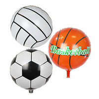 """1/5/10PC 18"""" Soccer/Basketball/Volleyball Foil Helium Balloon Sports Party Decor"""