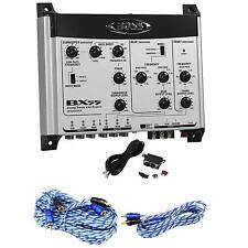 Boss BX55 2/3Way Car Electronic Crossover+Bass Remote+17 ft.+ 6 ft. RCA Cables
