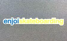 Enjoi Skateboarding Skateboard Sticker 7.7in blue/yellow si