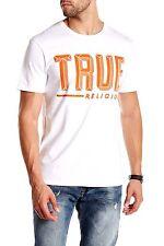 NWT True Religion Mens Size 3XL White Hard Knocks Crewneck Graphic Tee
