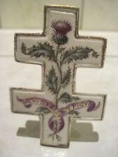 Porte Menu Emile Gallé Nancy Faïence motif chardon croix lorraine