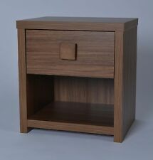 Smith 1 Drawer Bedside Chest in Walnut Effect