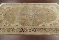 Antique Green 300 Knots Top Quality Muted Kashaan Area Rug Hand-Knotted Wool 6x9