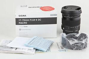 Sigma (C) 17-70 mm 1:2,8-4 DC Macro HSM für Sony A-Mount, Contemporary Makro