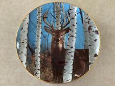 Autumn Sentinel by Bob Travers Pride Of The Wilderness Danbury Deer Buck Plate