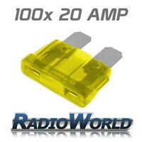 100 20AMP Standard Blade Fuses/Fuse Automotive Van / Car