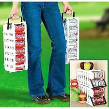 Store Tote Stackable Can Holder Dispenser Stack Rack Soda Carrying Handle Cans