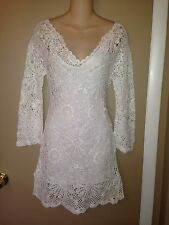 PJK PATTERSON J. KINCAID DORA CROCHET WHITE LADIES DRESS SIZE SMALL NEW