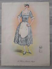 Gravure 20ème époque art déco Mode Nationale  La fille de Madame Angot