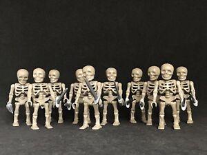 playmobil 10 Skeletons Figure custom egyptians medieval Glow Skeleton New Pirate