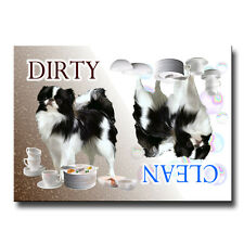JAPANESE CHIN Clean Dirty DISHWASHER MAGNET New DOG