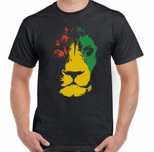 Bob Marley T-Shirt, Mens Jamaica Lion Reggae Jamaican Flag Rastafarian Rasta